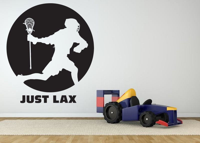 removable vinyl sticker mural decal wall art decor lacrosse lacrosse wall mural pbteen
