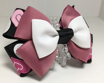 Valentines Hearts Hair Bow