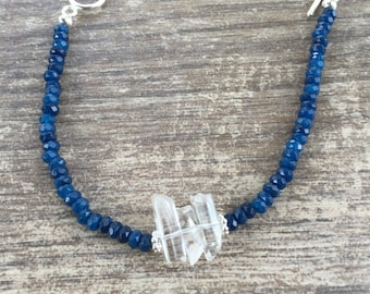 Blue Agate and Quartz Bracelet