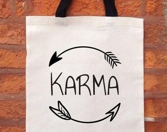 Karma Tote Bag, Yoga Bag, Market Tote Bag