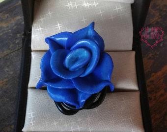 Ring wire aluminum - Blue Rose