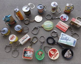 Keyring vintage advertising / Collection antique advertising / vintage keychain from 1950 to 1970