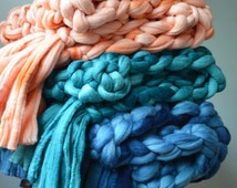 Chunky Knit Blankets - 100% Merino Wool Throws with Tassels