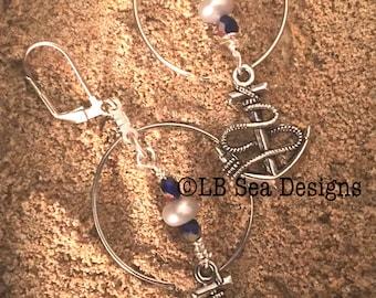 Nautical Hoop & Drop Earrings