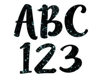 Galaxy Blue Alphabet, Galaxy Clipart, Galaxy Alphabet, Stars Alphabet, Stars Clipart Letters- Digital download
