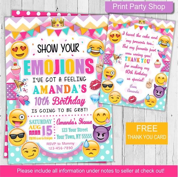 Emoji Printable Birthday Invitations Page Two Birthday Wikii