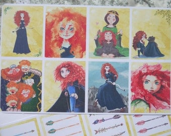 8 Redhair princess Backgrounds! S044
