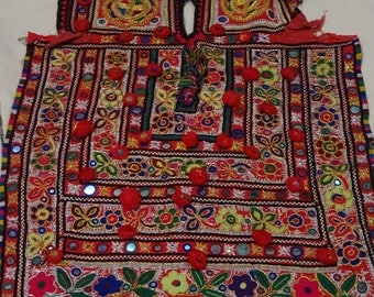 Vintage Mirror Work Dress From Indian and Sindh Tribes Textile Costumes Kurta
