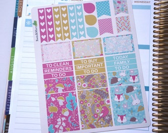 Enchanted Woodland Weekly Sticker Kit  / Perfect for vertical Erin Condren Life Planner
