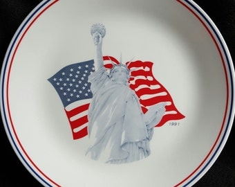 Statue Of Liberty Plate  1991