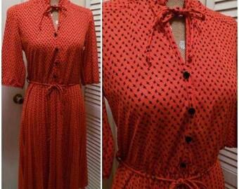 80's Vintage KR of NY Red Secretary dress