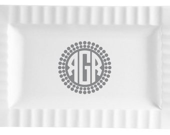 Queensquare Ceramic Platter - Dots Design