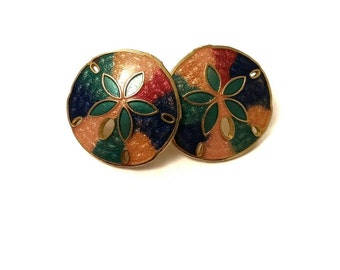 Gorgeous Vintage Sand Dollar InspiredEarrings