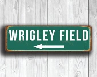 WRIGLEY FIELD SIGN, Wrigley Field Stadium, Wrigley Field, Baseball Stadium, Chicago Cubs, Baseball Signs, baseball Gifts, Cubs Sign, Cubs