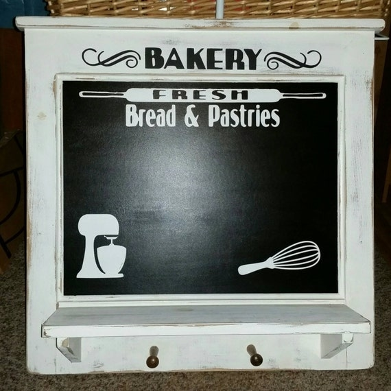 Country Kitchen Bakery Menu Board Chalkboard With Shelf