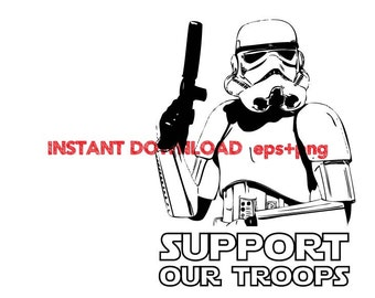 Support our troop Clip Art,T shirt, iron on , sticker, Vectors files ,Personal Use