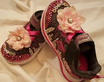 Child's blinged shoe