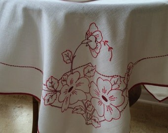 Vintage Card Table Cloth and Napkins