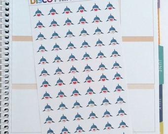 Shark Week Stickers (72 Matte Planner Stickers)
