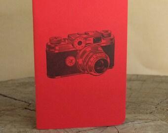 Letterpress Booklet, Vintage Camera RED