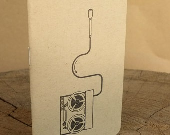 Letterpress Booklet, Vintage Reel to Reel Tape Recorder KRAFT