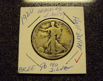 1920 Walking Liberty Half Dollar 90% Silver US Coin