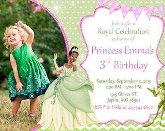 Princess Tiana Invitation Birthday - Princess Tiana Party