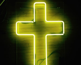 SALE Neon Cross