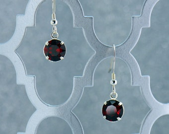 Red and Silver Earrings E2257