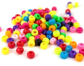 300 Multicolor Pony Kandi Beads