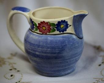 Vintage Siltone Pottery blue jug