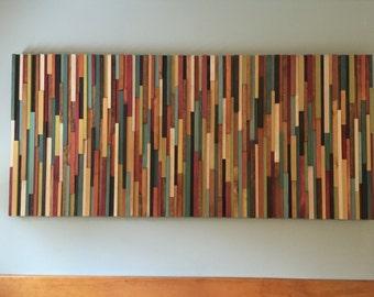 Modern Wood Wall Art- warm colors wall art- wood wall art-huge Wall Art- wood wall art- wood wall decor