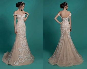 Exclusive wedding dress, Lace wedding dress, wedding dress, elegant dress, bride dress
