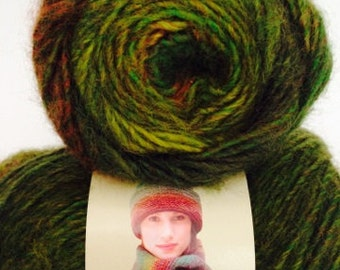 Lion Brand Amazing Yarn, Color Rainforest, Acrylic and Wool, Worsted Weight