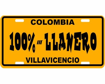 100% Lanero - Colombia Decorative License Plate - Placa de los Llanos