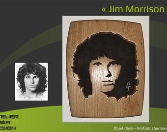 Portrait fretwork of Jim Morrison