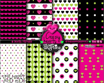 Heart Digital Paper, 80%OFF, COMMERCIAL USE, Heart Pattern, Printable Paper, Valentine's Day Paper, Heart Party, Heart Celebration