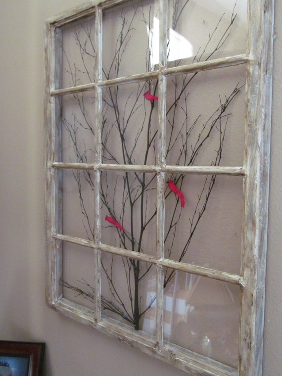 Large window frame art by reclaimedwoods58 on etsy for Using old windows as picture frames