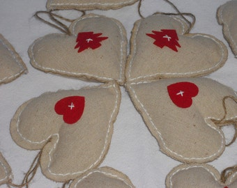Heart - Christmas decorations - ornaments - charms - Christmas - X-mas