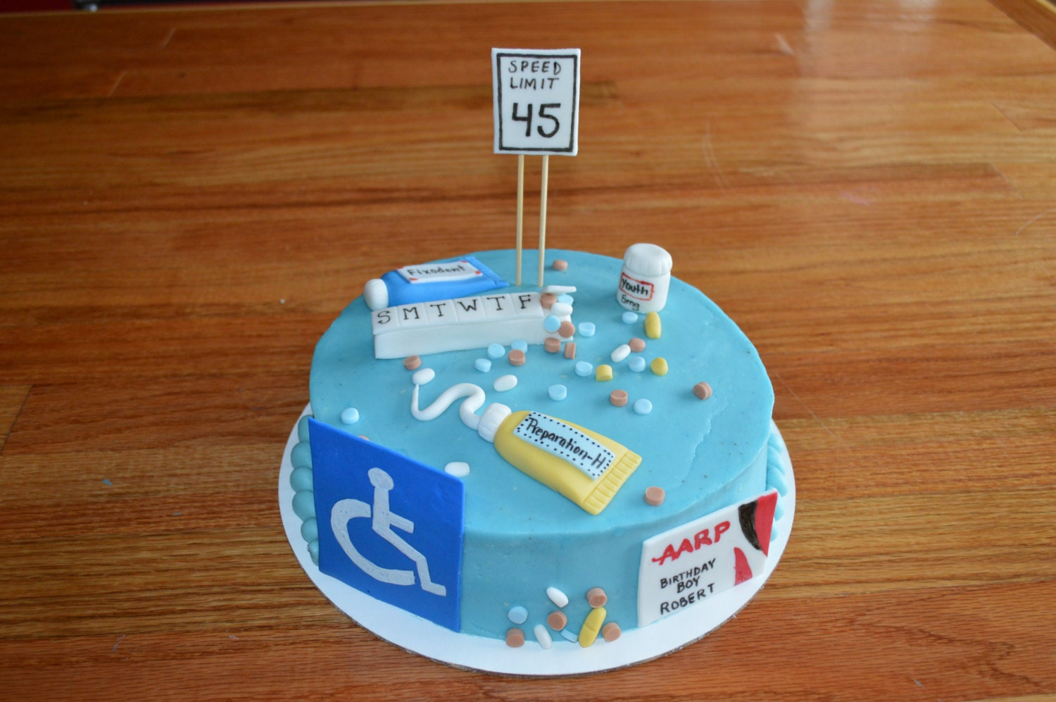 Over The Hill Cake Toppers, 50th Birthday, Funny Birthday