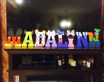 Disney Mickey Mouse Clubhouse Party Name Letters Art