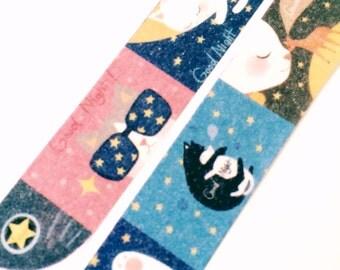 Good Night Cats Washi Tape