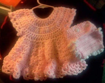 Crocheted dress