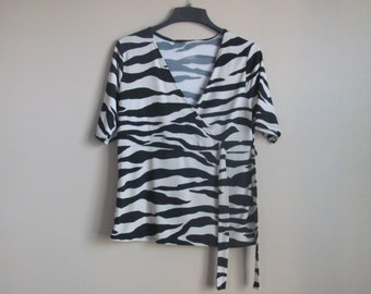 Women's Blouse With Zebra Patern