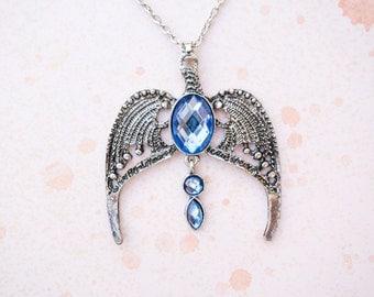 Harry Potter Inspired Ravenclaw Diadem Eagle Pendant Necklace
