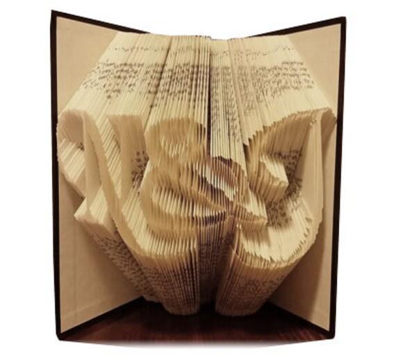 Book Art Wedding Gift : Folded Book ArtAnniversary GiftWedding GiftCouples Gift ...