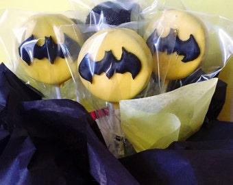 12 Batman Cake Pops