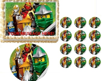 Ninjago Edible Cake Topper Image, Ninjago Cupcakes, Ninjago Party, Ninjago Cake, Edible Images, Edible Photo Cake, Ninjago Birthday Party