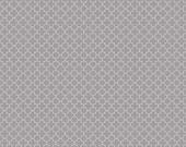 Grey Mini Quatrefoil Fabric from Riley Blake, C345-40