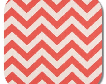 Premier Prints, Upholstery Fabric, Chevron Fabric,  Zig Zag, Chevron, Coral,  Home Decor fabric, 7 oz Cotton, FAST SHIPPING